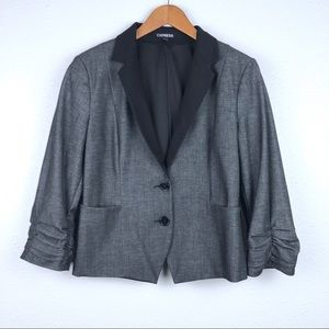 Express gray blazer suit jacket, 12